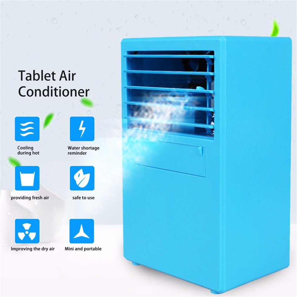9.5 Inch Mini Portable Table Air Conditioner Small Office Bladeless Fan  Humidifier Quiet Personal Moisturizing
