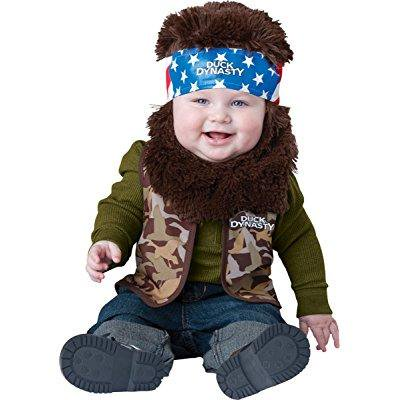 duck dynasty baby infant costume willie (brown beard & bandana) - infant large