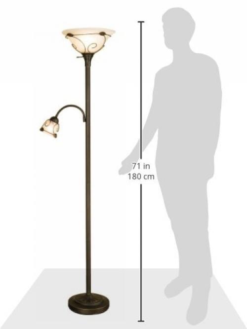 normande lighting jm1884 71inch 100watt torchiere floor lamp with