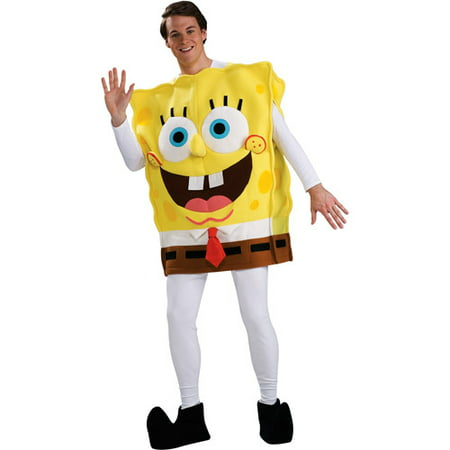 Spongebob Deluxe Adult Halloween Costume - One Size](Bath Sponge Halloween Costume)