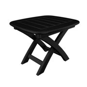Recycled Earth-Friendly Cape Cod Outdoor Patio Folding Side Table - Black