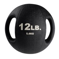 BSTDMB12 12lb BLack Dual Grip Medicine Ball