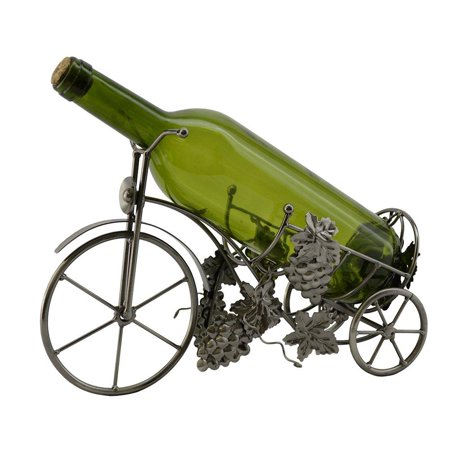 (D) Wine Bottle Holder, Tricycle with Grape, Bar Counter Decoration Grapes Wine Holder