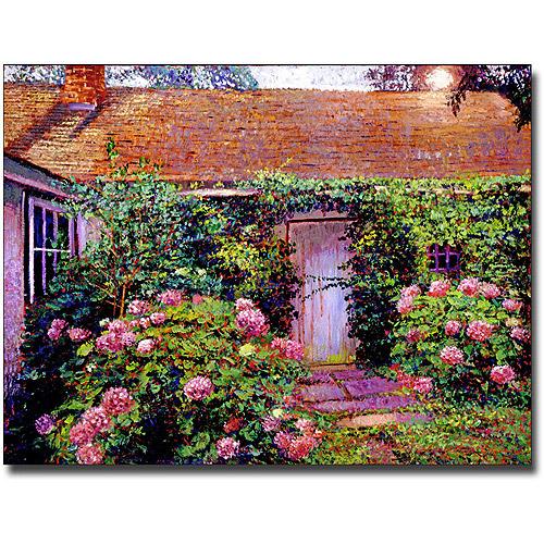 "Trademark Art ""Hydrangea Cottage"" Canvas Wall Art by David Lloyd Glover"