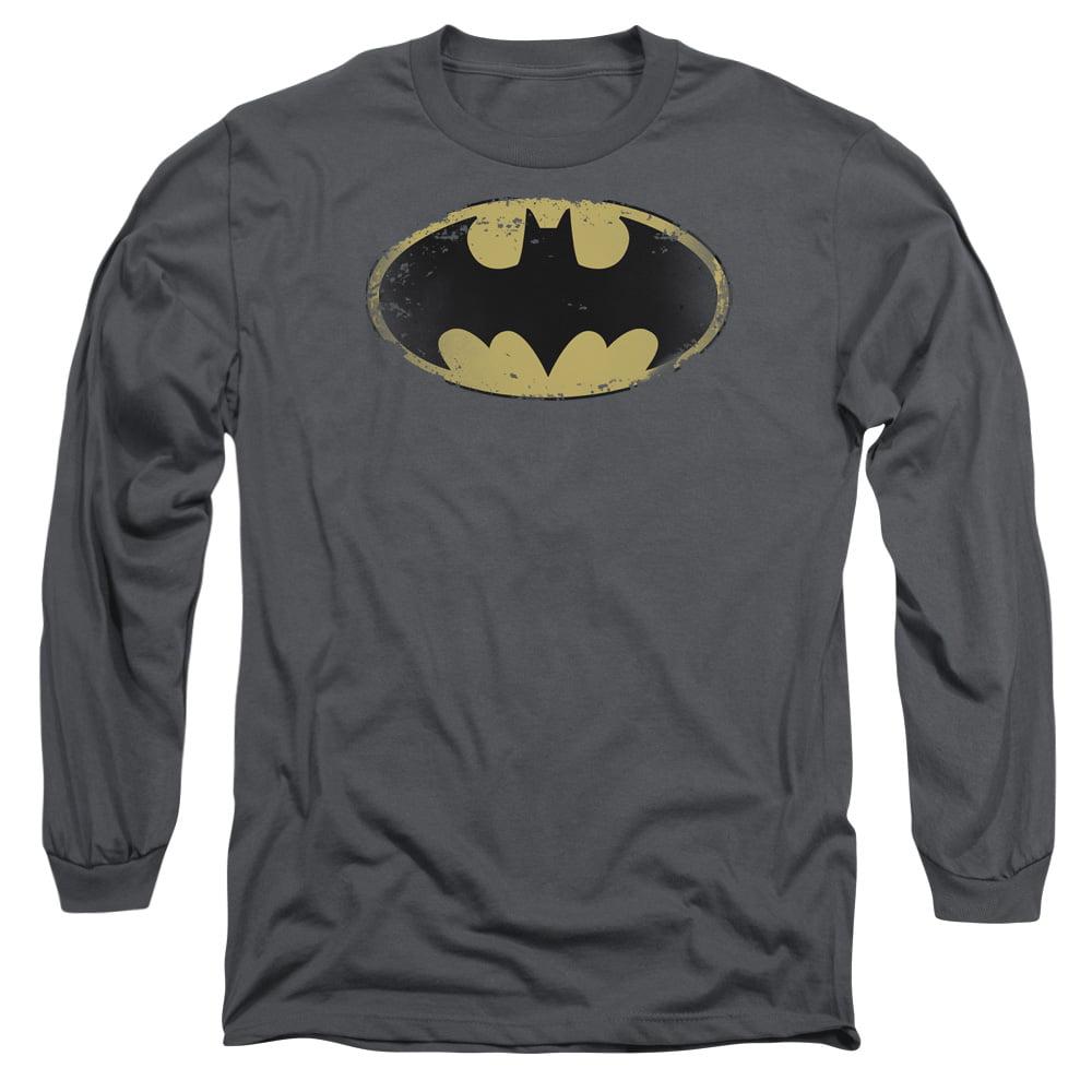 Batman Distressed Shield Adult Tank Top T-shirt