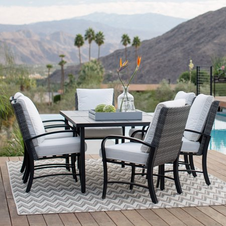 Belham Living Augusta Metal and All-Weather Wicker Patio Dining Set ()