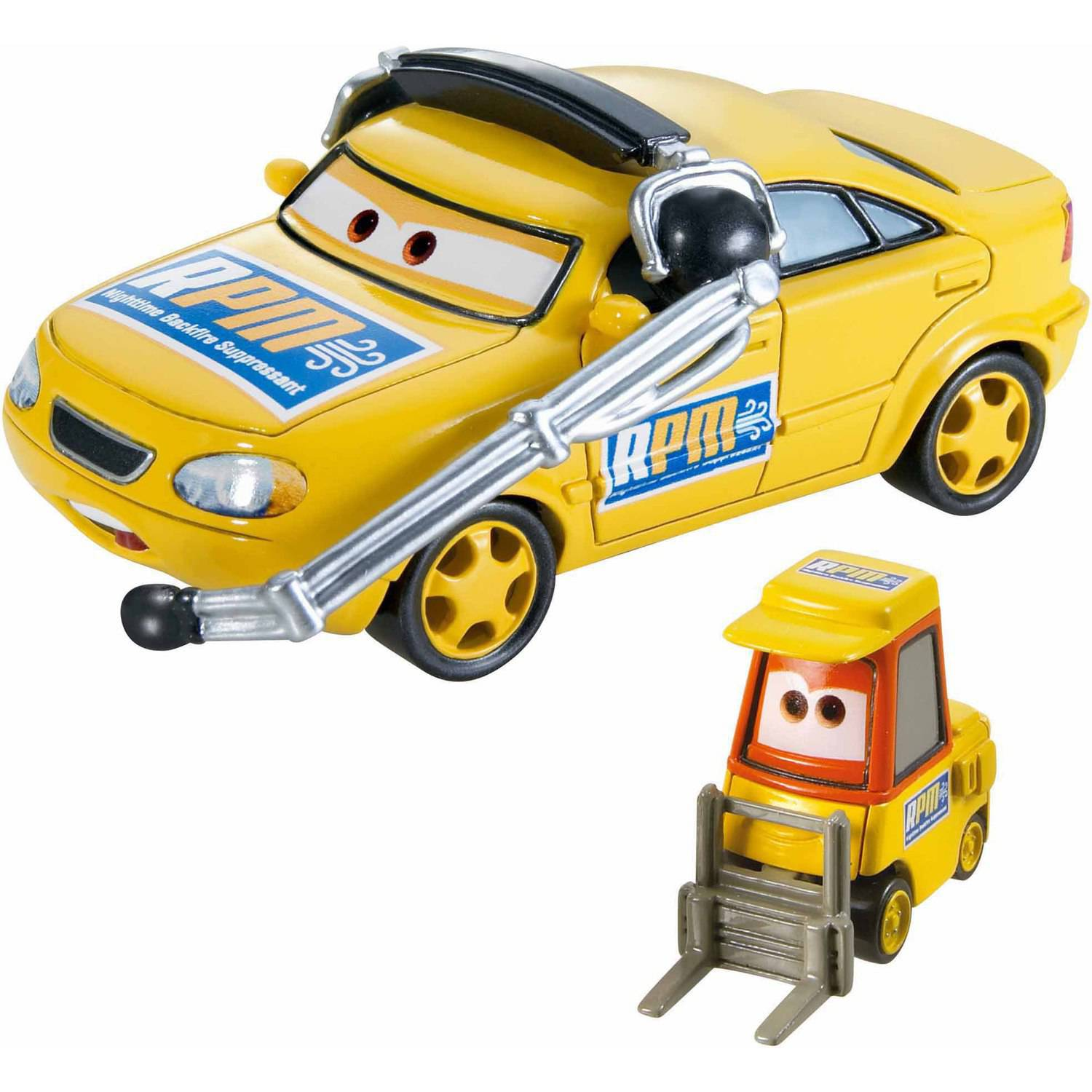 Disney Pixar Cars Character Car 2 Pack Chef Rpm And Petrol Pulaski