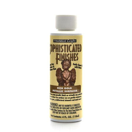 Sophisticated Finishes Metallic Surfacers rich gold, 4 oz. (pack of - Sophisticated Finishes