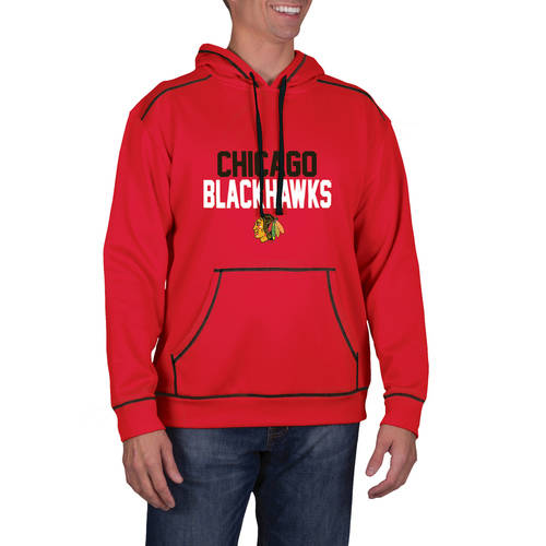 NHL Chicago Blackhawks Men's Classic-Fit Long Sleeve Pullover Impact Hoodie