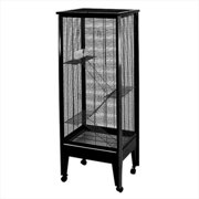 Medium 4-Level Small Animal Cage Color: Platinum with Black