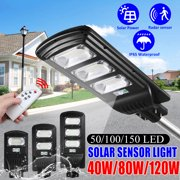 40W/80W/120W 6000K Solar Street Light +Remote Control Controller LED  Wall Street Lamp PIR Motion Sensor Power Waterproof Polysilicon,For Home Garden Yard Outdoor