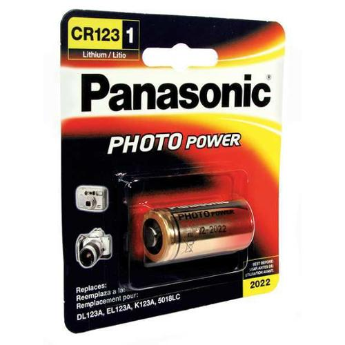 PANASONIC 4588183-36E896 Battery, Lithium, CR123A, 3V