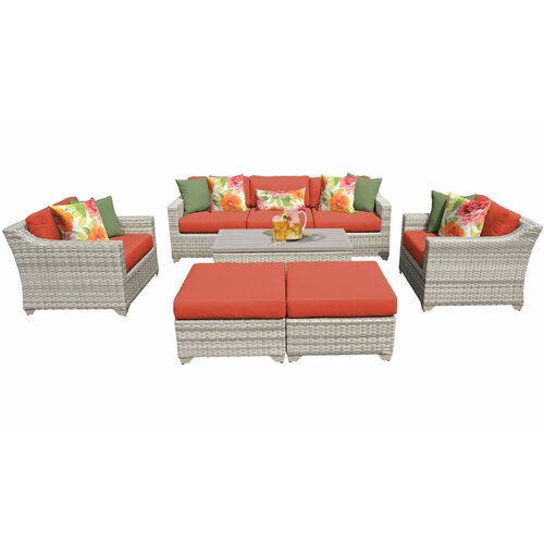 Sol 72 Outdoor Falmouth 8 Piece Sofa Seating Group with Cushions