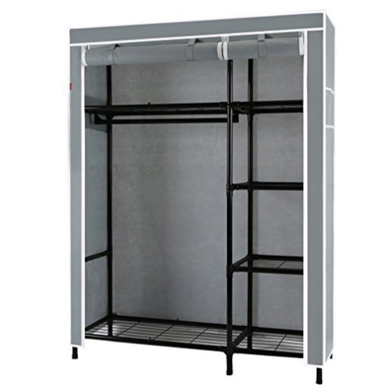 Yasite Portile Furniture Clothes Closet Wardrobe Storage Rack Cloth Organizer Steel Tube Diameter 1 Inch (  sc 1 st  Walmart : cloth wardrobe storage  - Aquiesqueretaro.Com