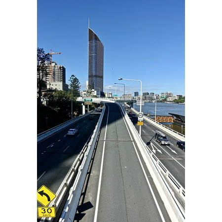 LAMINATED POSTER Highway Cod Urban Traffic City Brisbane Poster Print 24 x 36 - Party City Highway 6