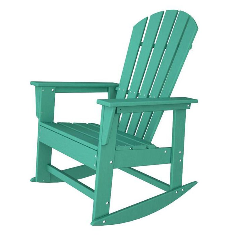 polywood south beach recycled plastic adirondack rocking chair - Polywood Adirondack Chairs