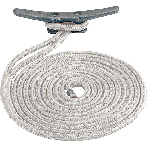 "Sea Dog Dock Line, Double Braided Nylon, 1 2"" x 20', White by Sea Dog"