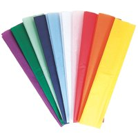 Kolorfast Non-Bleeding Art Tissue Paper, 20 x 30 Inches, Assorted Colors, Pack of 10