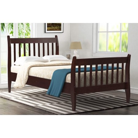 Plank Pine Bed (Merax Modern Farmhouse Style Pine Wood Twin Size Bed, Multiple Colors )