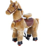 Beige Brown Pony Rocking Horse Ride On Horse Cycle by TODDLER TOYS
