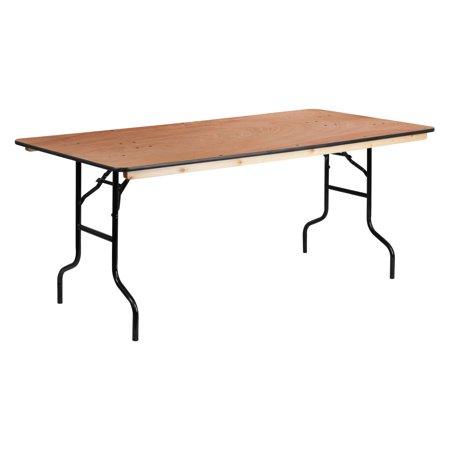 Flash Furniture 36 X 72 Rectangular Wood Folding Banquet Table