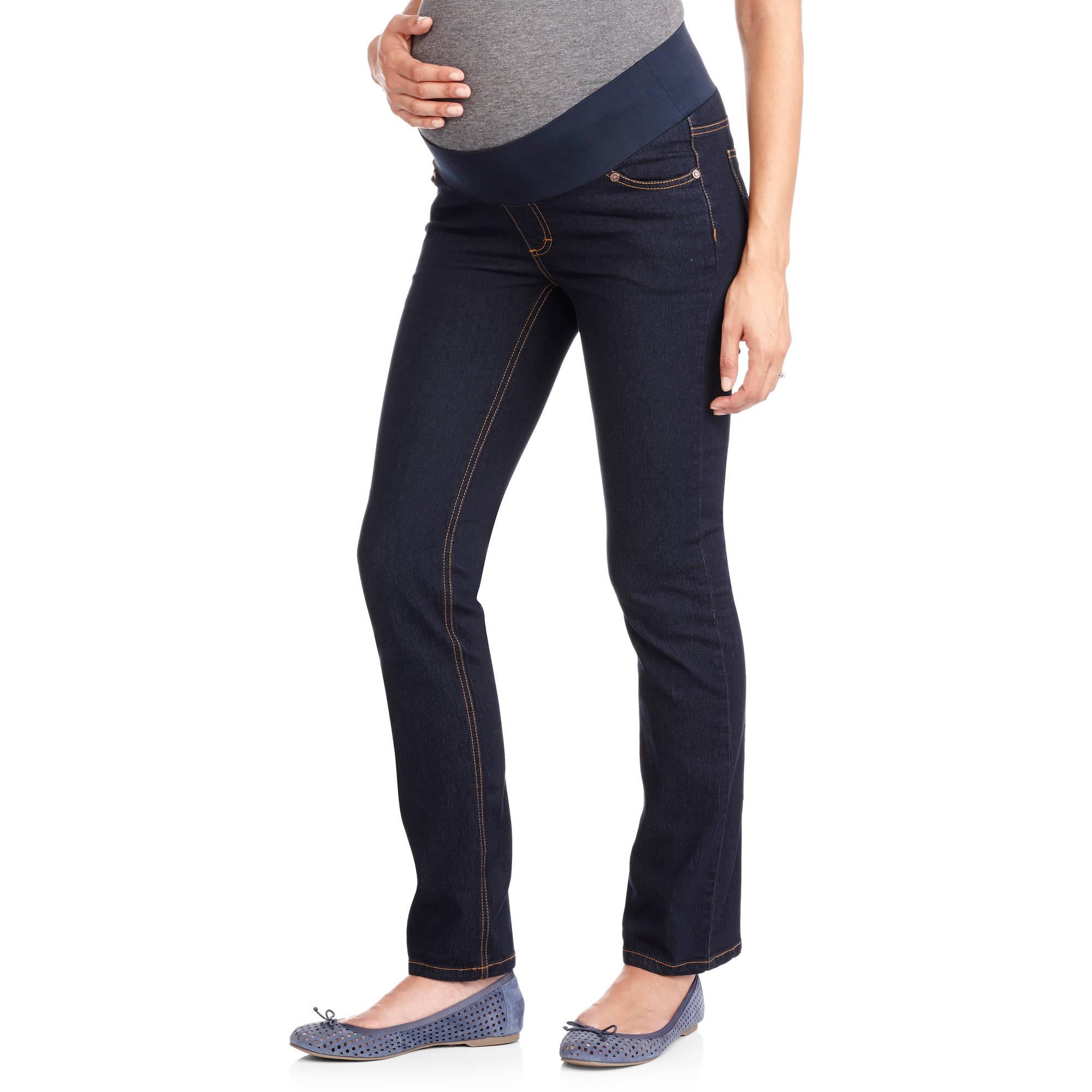 Oh! Mamma Maternity Demi-Panel Super Soft Straight Leg Jeans