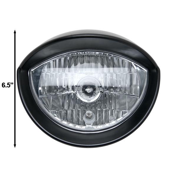 Motorcycle Custom Black Headlight Head Light For Yamaha TX SR CS YX RD 350 400 500 600 650 750 - image 4 of 6