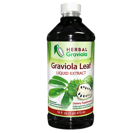 Graviola Leaf Extract Liquid - Soursop (Guanabana) Leaves Ð USDA Organic, Non GMO, Kosher Ð Cell Support & Regeneration & Stress Relief - Immune Boost Ð - 12oz Bottle