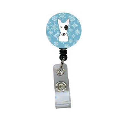 Snowflake Bull Terrier Retractable Badge Reel - image 1 de 1