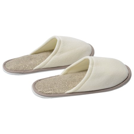 Evideco Men's Slippers Polyester/Ramie Spa Wellness with EVA Shoe Sole Cream/Taupe ()