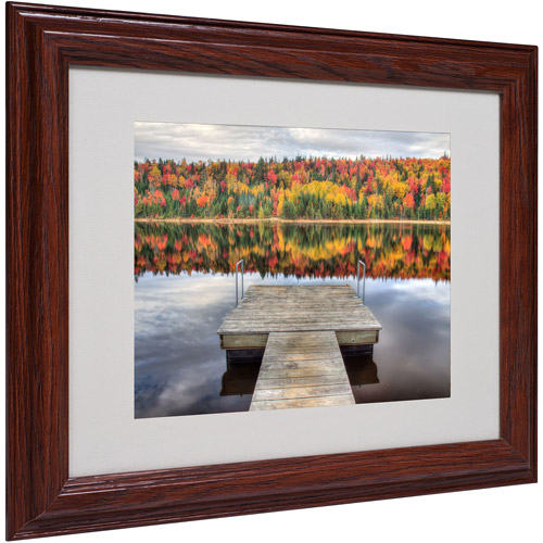 "Trademark Fine Art ""Autumn"" Matted Framed Art by Pierre Leclerc"