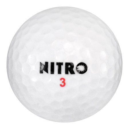 Nitro Golf Golf Balls, Assorted Colors, Used, Mint Quality, 108 Pack