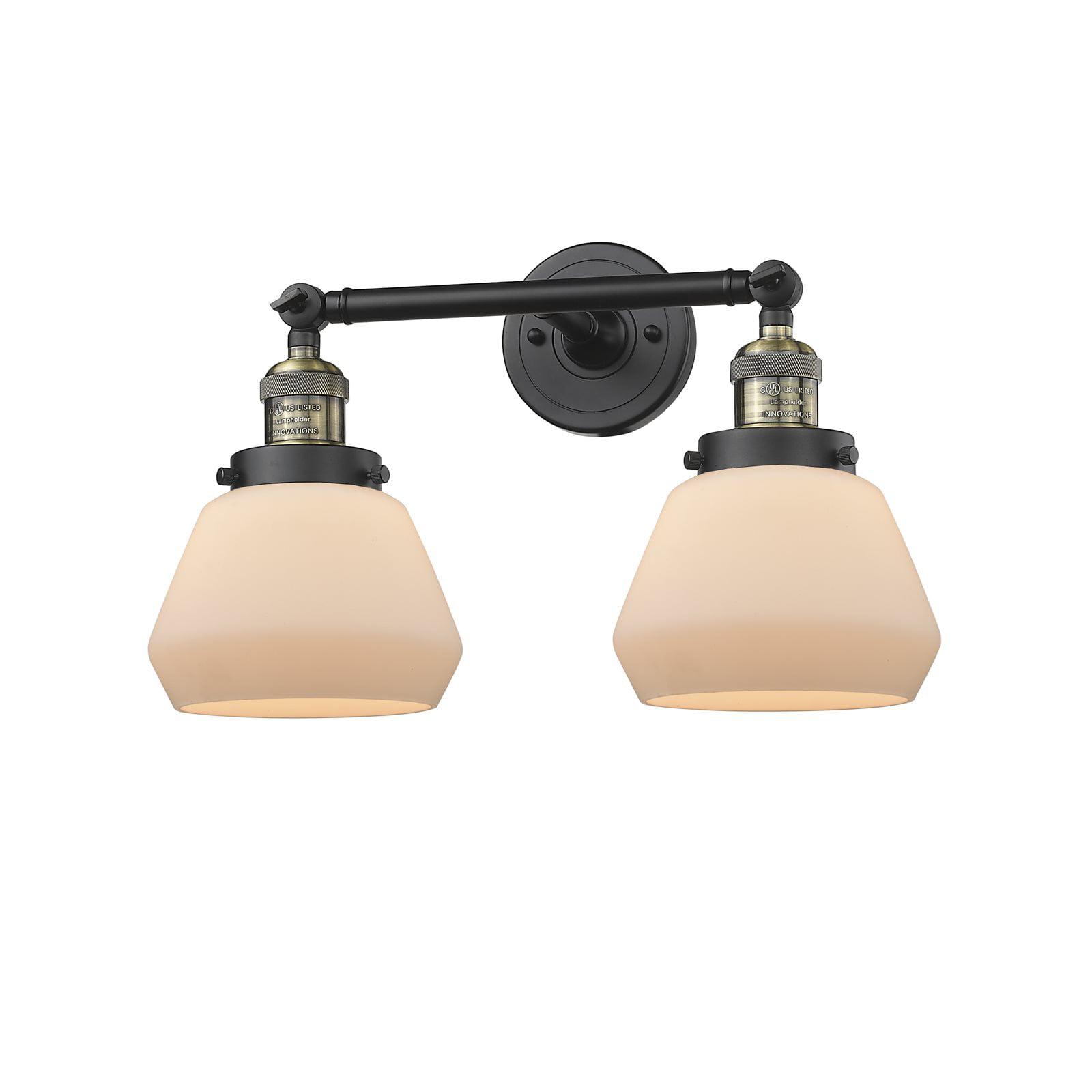 "Innovations 2-LT LED Fulton 16.5"" Bathroom Fixture Black Antique Brass 208-BAB-G171-LED by"