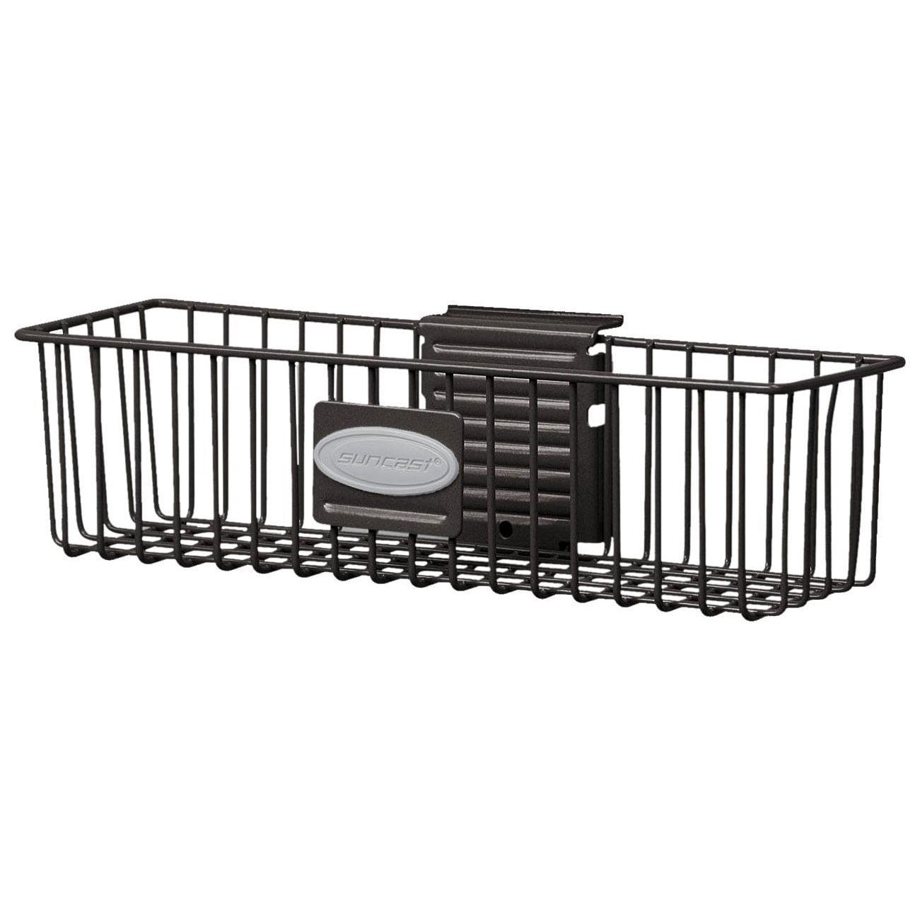 "Black MB1218B SUNCAST Steel Storage Basket,8-3//8/""H,18/""W,PK4"