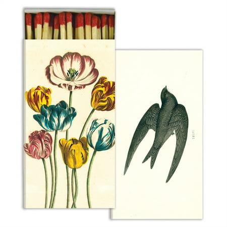 HomArt - Match Box Set of 2 - Variegated Tulips & Swift - Red
