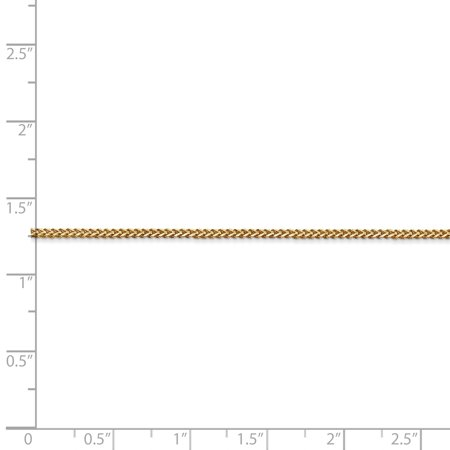 14k Yellow Gold 1mm Franco Chain Anklet Ankle Beach Bracelet 7 Inch : Fine Jewelry For Women Valentines Day Gifts For Her - image 2 de 8