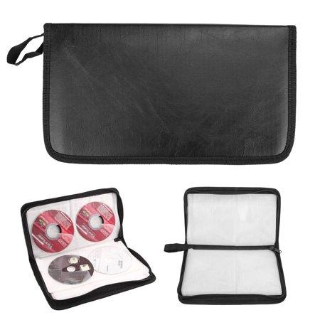 80 Capacity CD/DVD Disc Case Storage Wallet Binder, Protective DVD Storage Organizer Carry handbag Booklet
