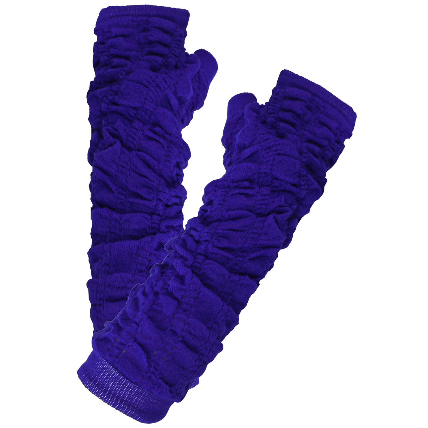 Luxury Divas Soft Knit Scrunched Arm Warmers
