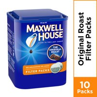 Maxwell House Original Roast Ground Coffee Filter Packs, 5.3 oz Canister