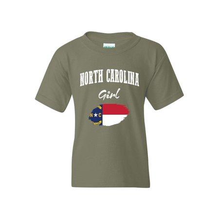 North Carolina Girl Unisex Youth Shirts T-Shirt Tee