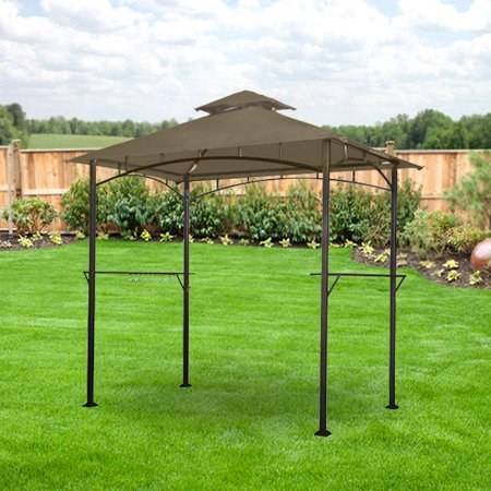 garden winds replacement canopy top for the lighted grill gazebo riplock 350 light beige - Garden Winds Gazebo