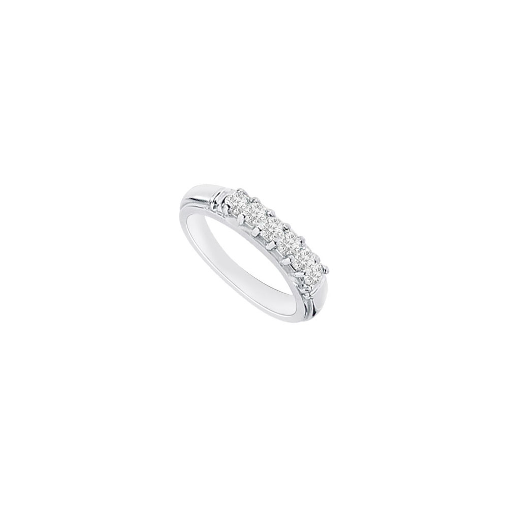 Sterling Silver Cubic Zirconia Wedding Band 0.50 CT TGW - image 2 of 2