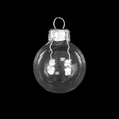 "Northlight 28ct Shiny Glass Ball Christmas Ornament Set 2"" - Clear Transparent"