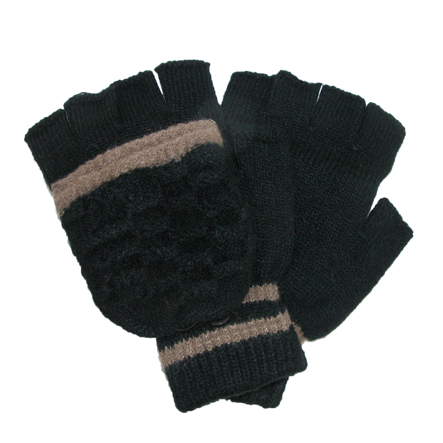 Jeanne Simmons  Mens Convertible Fingerless Winter Gloves