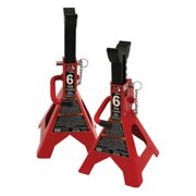 Torin T46002A Big Red Steel Jack Stands: Double Locking, 6 Ton Capacity