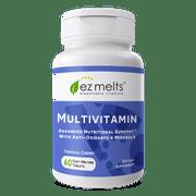 EZ Melts Multivitamin with Minerals, Dissolvable Vitamins, Vegan, Zero Sugar, Natural Cherry Flavor, 60 Fast Melting Tablets