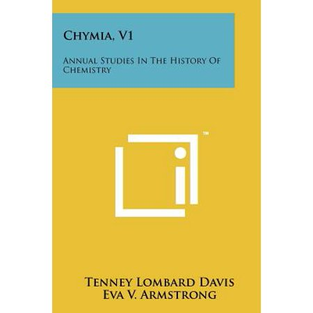 Chymia, V1 : Annual Studies in the History of Chemistry