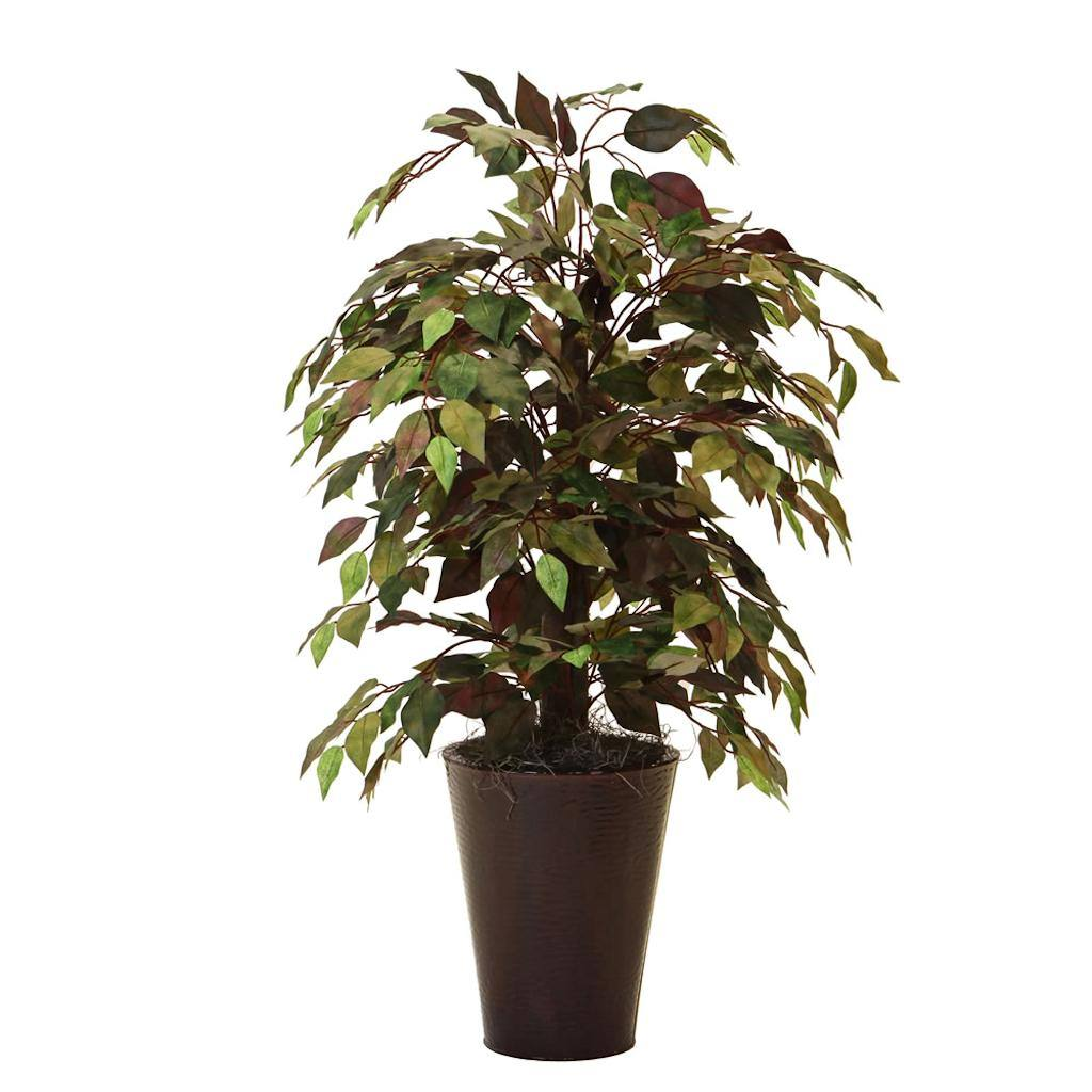 Vickerman 344851 - 4' Mystic Bush in Round Embossed Pot (TBU0540-0066) Home Office Bushes