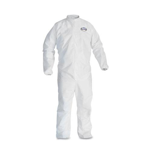 Kimberly-Clark A30 Elastic-Back & Cuff Coveralls, White, 2X-Large, 25/Case KCC 46105