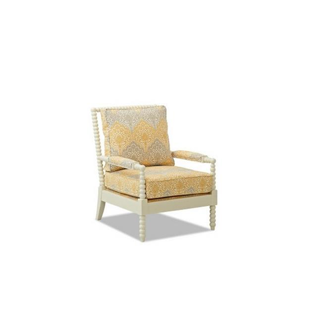 Furniture 12013204146 38 x 28 x 33 in. Rocco Occasional Chair, Daisy by DeluxDesigns